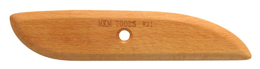 MKM Pottery Tools Craftsman Series Wood Rib (W21)
