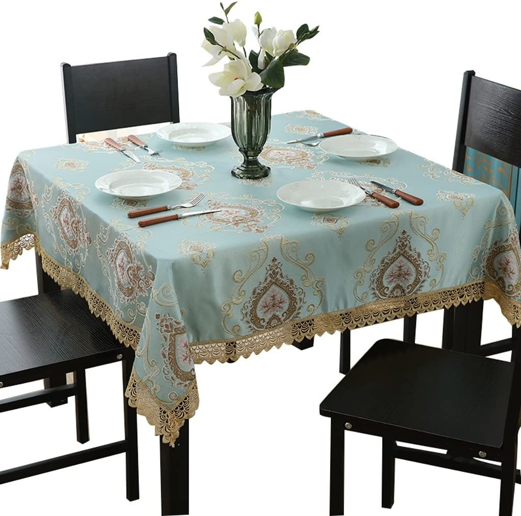 European Lace Velvet Tablecloth Square Rectangle Soft Home TV Night Table Cover