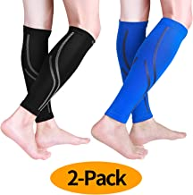 Udaily Calf Compression Sleeves for Men & Women (20-30mmhg) - Calf Support Leg Compression Socks for Shin Splint & Calf Pain Relief