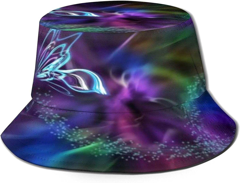 Swirl Rapid rise Rainbow Butterfly Fantasy Al sold out. Pattern Bucket Unisex Ha Sun Hat