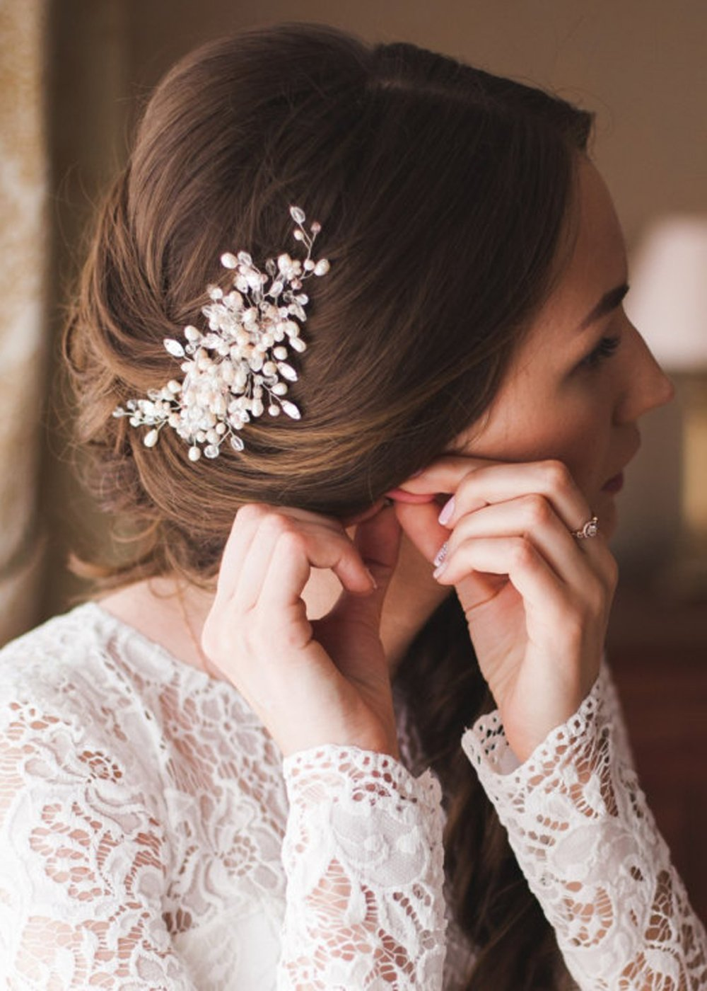 Kercisbeauty Handmade Wedding Crystal Hair Daily bargain specialty shop sale Combs with for Pearls
