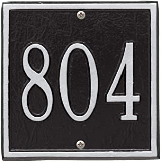 Whitehall Personalized Cast Metal Address Plaque - Square 6
