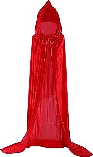 Unisex Halloween Cloak Hoodie Velvet Vampire Witch Devil Cape Cosplay Costume