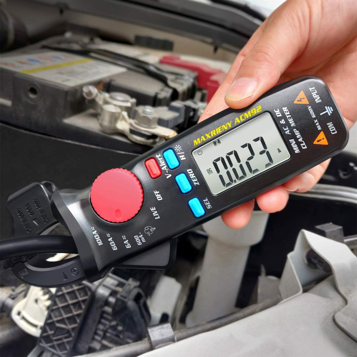 MAXRIENY San Antonio Mall DC Clamp Multimeter True Counts Meter RMS Digital Fixed price for sale 6000
