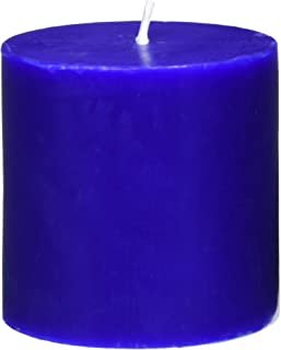 Zest Candle Pillar Candle, 3 by 3-Inch, Blue