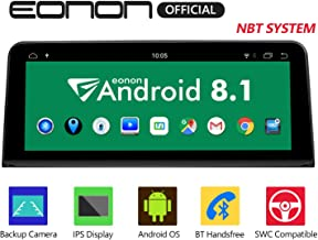 Eonon Android 8.1 Car Stereo, Car Radio with 10.25 inch IPS display Screen Support Android Auto, Carplay, Applicable to For BMW X5 F15 (2014-2017) NBT Compatible With iDrive System Head Unit- GA9206NB