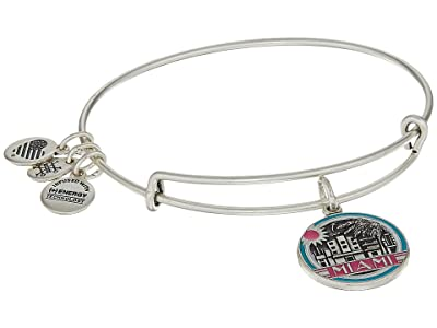 Alex and Ani Places We Love Miami Bangle (Rafaelian Silver) Bracelet