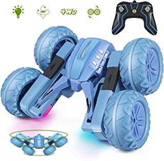 Remote Control Car for Kids, 2020 RC Stunt Car Kids Toys 360°Flips Action Double Sided Rotating on The Vertical 4WD 2.4Ghz Rechargeable RC Cars for Boys & Girls BirthdayAge 4-7 & More