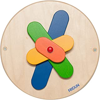 Geschicklichkeitsspiel Therapeutisches Ger/ät F/ür Kinder-Autismus St/ück Kreisel Aus Holz Holzspielzeug ZYJFP Holzkreisel