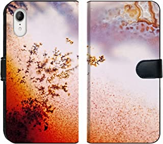 MSD Premium Phone Case Designed for iPhone XR Flip Fabric Wallet Case Image ID: 24171559 Jewelry and Decorative Stone Moss Agate Macro Raw Rough Plate Ka