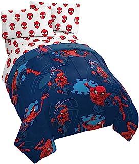 Jay Franco Marvel Spiderman Spidey Daze 4 Piece Twin Bed Set - Includes Reversible Comforter & Sheet Set Bedding - Super S...