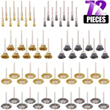 Swpeet 72Pcs Wire Wheel Brushes Kit, Including Brass and Steel Wire Brush Set 1/8
