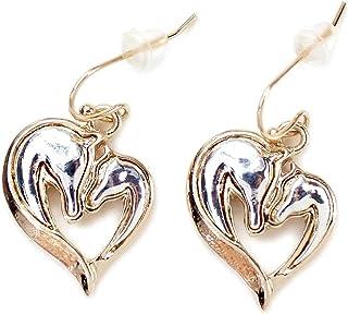 Heart of Two Horses Mixed Metal Earrings