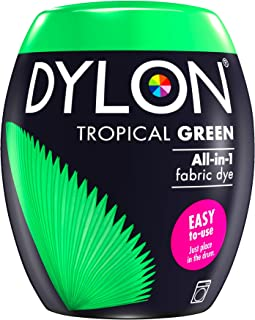 DYLON Machine Dye Pod, easy-to-use fabric colour for laundry, 350g (Tropical Green)