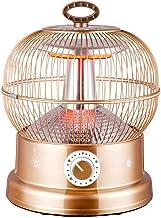Calefactor De Jaula De Pájaros De 360 °, Estufa Eléctrica De Calefacción Doméstica, Calefactor De Ventilador De Tubo De Fibra De Carbono De Energía, Protección De Apagado De(Color:UNA,Size:28*28*38CM)