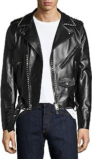 Leatherexotica Newly Arrived Women Genuine Soft Lambskin Leather Designer Style Urbane Biker Jacket Size:L Dark Brown