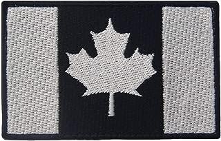 Tactical Canada Flag Patch Embroidered Morale Applique Fastener Hook & Loop Emblem