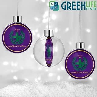 greeklife.store Lambda Chi Alpha Round Ball Ornament Christmas Decor
