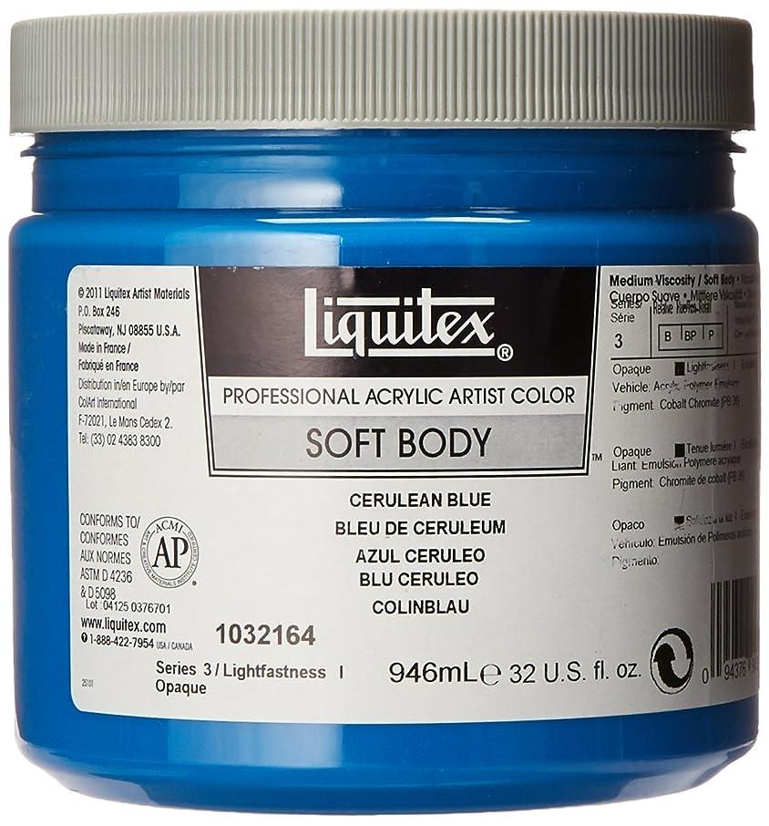 Liquitex 1032164 Professional Soft Body Acrylic Paint 32-oz jar, Cerulean Blue