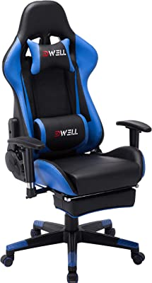 EDWELL Ergonomic Gaming Chair with Headrest and Lumbar Massage Support,Racing Style PC Computer Chair