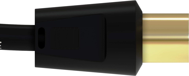 colore ConnectingU bianco 1,8 m bianco Cavo antenna TV maschio a maschio con accoppiatore femmina a femmina