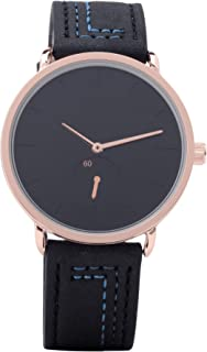 Luxurious and distinctive men's watches Bots. whipped Black copper color.