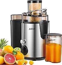 Centrifugeuse Fruits et Légumes Aicok Centrifugeuse Extracteur de Jus, 65MM Large Goulot Extracteur de Jus avec 2 Vitesses...
