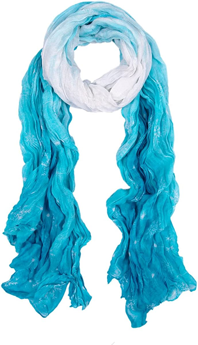 Chic Ombre Watercolor Ranking TOP18 Scarf Snowflake 35% OFF