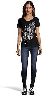 Women's Short Sleeve Graphic V-neck Tee (multiple...