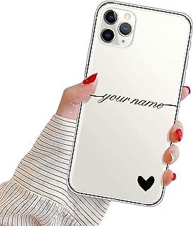 Suhctup Personalizzata Cover per Samsung Galaxy S10+ Plus Custodia in TPU con Cuore Testo Personalizzabili Regalo Case Ult...