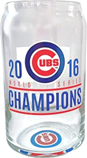 Cubs Beer Glass 2016 World Series Champions Fly the W