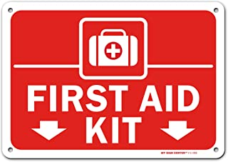 First Aid Kit Sign for Home, Office, Business, Made Out of .040 Rust-Free Aluminum, Indoor/Outdoor Use, UV Protected and F...