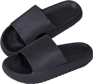 Pantuflas Mujer Verano Zapatillas de Ducha Baño para Hombre Ultra Suaves de Plataforma Gruesa Antideslizantes de EVA de Pl...