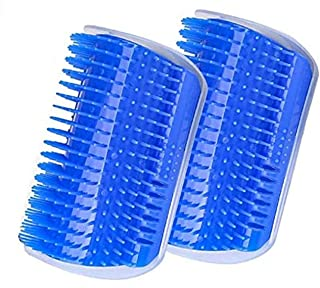 EZONEDEAL Cat Self Groomer with Catnip,Grooming Brush,Wall Corner Massage Comb,for Long & Short Fur Cats/Dogs,Helps Preven...
