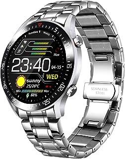 Montre Intelligente pour Homme avec tensiomètre, étanchéité IP68, fréquence Cardiaque, Compteur de Calories pour iOS et An...
