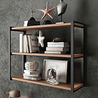 HIBISCUS Industrial Pipe Shelf Floating Shelves 23.6 inch for Living Room, Bathroom, Bedroom, Office, Kitchen