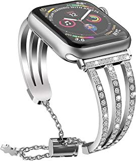 silver aluminum apple watch with different bands