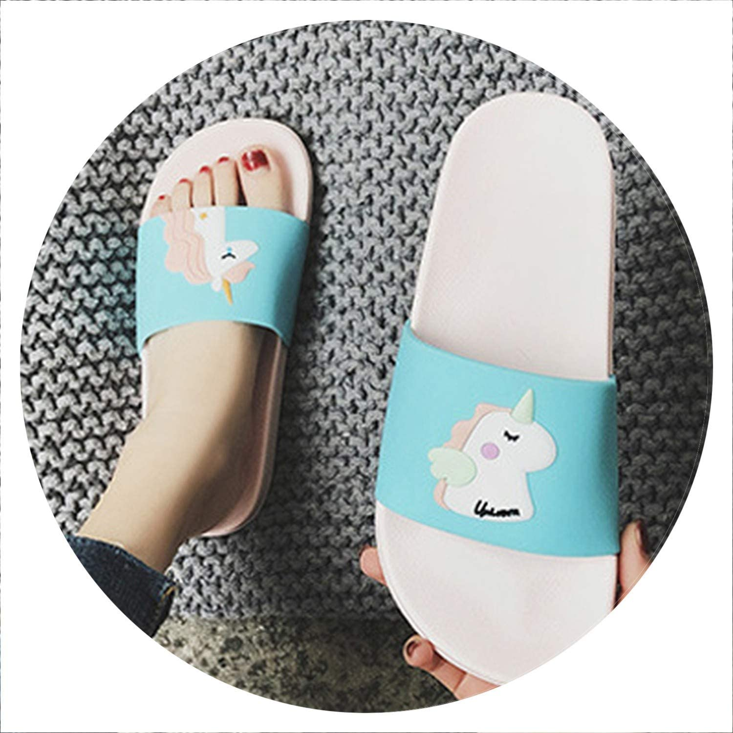 Glad You Came Summer Slippers Women shoes Badslippers Indoor Slippers Flip Flops Bathroom Winter Home Slippers shoes Woman Zapatillas de women,6277-11,8