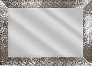 BP Industries Xander Wall Mirror, 24X36, Shiny Silver