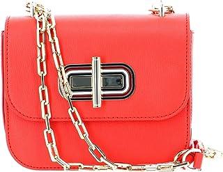 حقيبة كروس صغيرة بقفل دوار للنساء من تومي هيلفجر - برتقالي - AW0AW07993