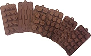 Yuniverse 6 pcs set chocolate mold.jelly.ice mold.pastry mold
