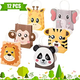 Jungle Safari Party Favor Bags Zoo Animals Birthday Treat Goody Bags for Jungle Themed Birthday Decorations Baby Shower Supplies