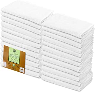 """Cotton Salon Towels Set - White 16""""x26"""" Pack of 24 Ultra Soft 100% Cotton Gym Towel Hand Towel White Daily Usage Maximum S..."""