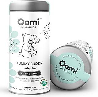 Baby Colic, Reflux & Gas Relief Herbal Tea by Oomi Organics - USDA Organic 30 Servings - Caffeine Free - Gluten Free - Hel...