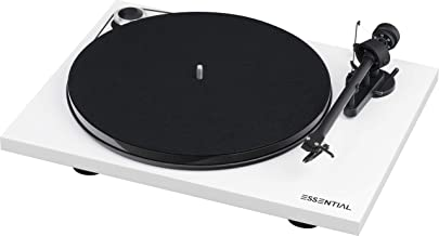 Pro-Ject Essential III Bluetooth Turntable - Gloss White with Ortofon OM 10e