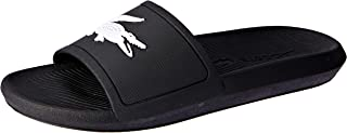 Lacoste Women's Croco Slide 119 3 Women's Fashion Shoes, BLK/WHT