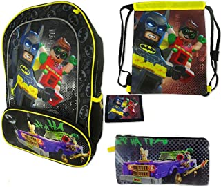 LEGO Batman 4pc Batman and Robin Backpack Value Set