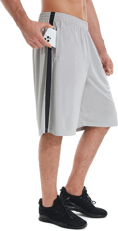 IUKIO Men's Ranking TOP19 Colorado Springs Mall Basketball Shorts with Pockets Athletic Running Shor