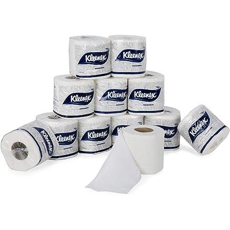 KLEENEX® Toilet Tissue 60049-2 ply Toilet Paper - 12 Toilet Rolls x 160 Toilet Tissue Sheets - Sheet Size 11 x 10 cm (1,920 sheets)
