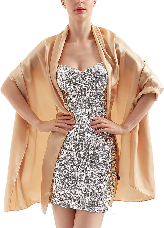 Womens Chiffon Scarf Wrap Hijab Bridal Wedding Scarves Shawl for Bridesmaid